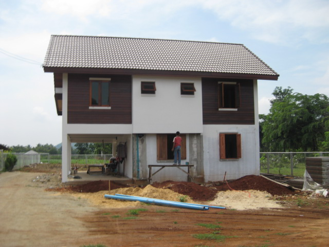Image of Retirement House We Are Building In Thailand Photo From Road Side